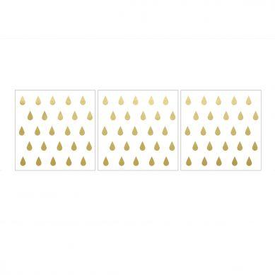 Dekornik - Naklejki Ścienne Krople Złote