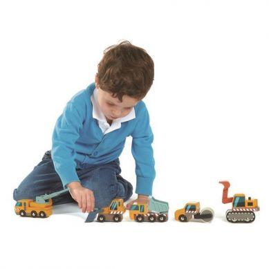 Tender Leaf Toys - Drewniane Pojazdy Budowlane 3+