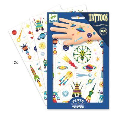 Djeco - Tatuaże Świecące w Ciemności Kosmos
