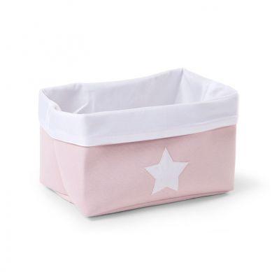 Childhome - Pudełko na Akcesoria Płócienne 32x20x20 Różowy