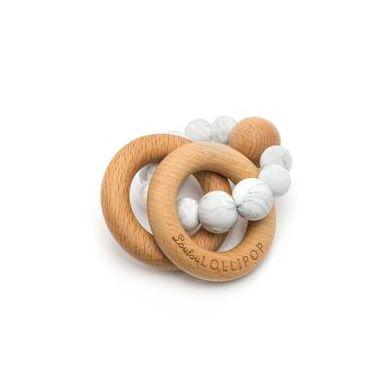 Loulou Lollipop - Gryzak Drewniany z Koralikami Marble