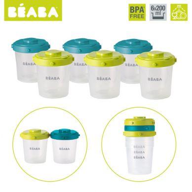 Beaba - Zestaw Słoiczków Clip 6 szt. 200 ml