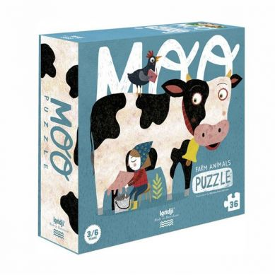Londji - Puzzle dla Dzieci Krówka Moo 3+