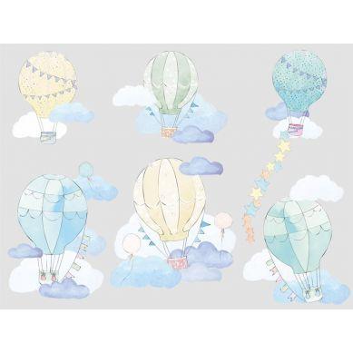 Pastelowelove - Naklejka na Ścianę Balony Miętowe