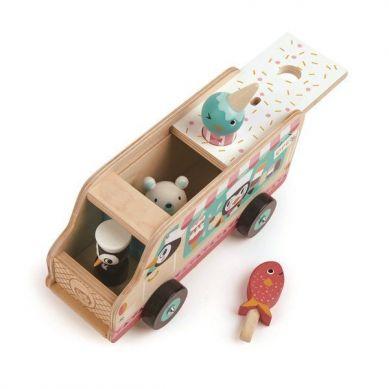 Tender Leaf Toys - Drewniana Lodziarnia Samochód 3+