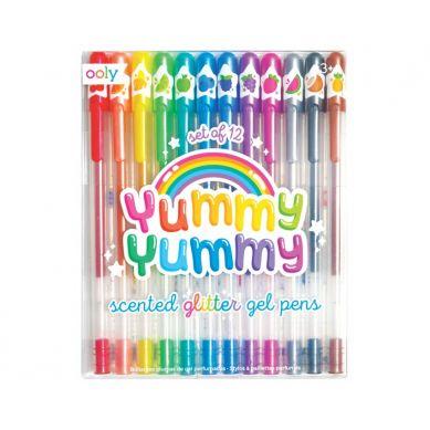 Ooly - Pachnące Długopisy Żelowe z Brokatem Yummy Yummy 2.0 12szt. 3+