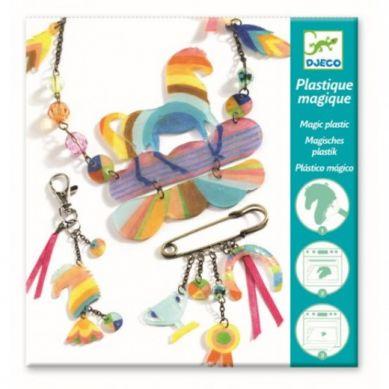 Djeco - Zestaw Kreatywny Magiczna Biżuteria Rainbow Horse