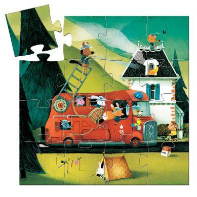 Djeco - Puzzle Straż Pożarna 16el.