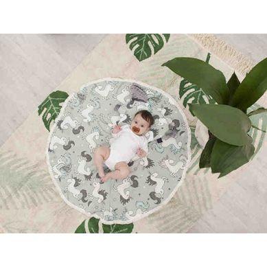 La Millou - Bambusowy Okrągły Otulacz by Maja Bohosiewicz Medium Unicorn Sugar Bebe