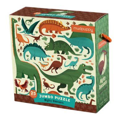 Mudpuppy - Puzzle Jumbo 25 Elementów Potężne Dinozaury