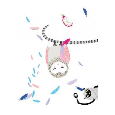 Maki Mon Ami - Plakat Sowa Pola Śpiaca (A4)