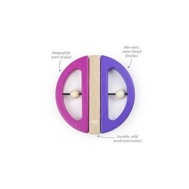Tegu - Drewniane Klocki Magnetyczne Drewniane BABY & TODDLER Swivel Bug Pink/Purple 6m+