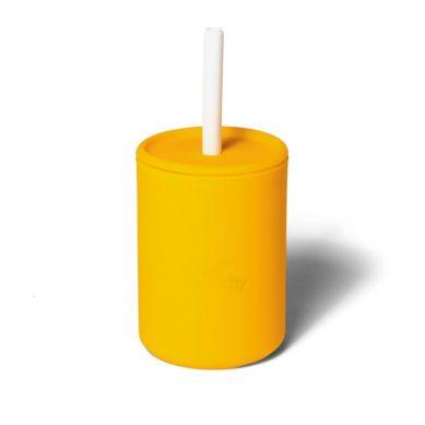 Avanchy - LeaPetite Silikonowy Kubeczek dla Dziecka 6m+ Yellow