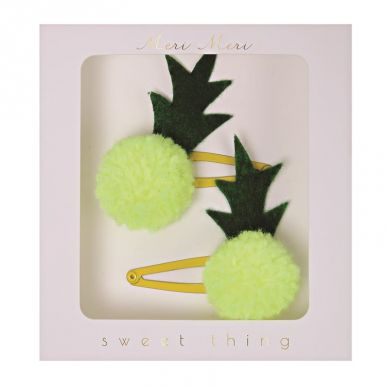 Meri Meri - Spinki do włosów Ananasy