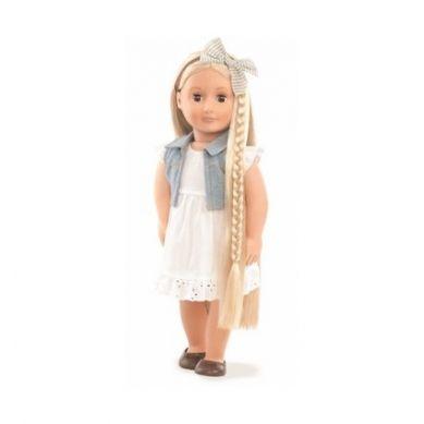 OurGeneration - Lalka Phoebe Blondynka z Regulowanymi Włosami do Stylizacji 46cm