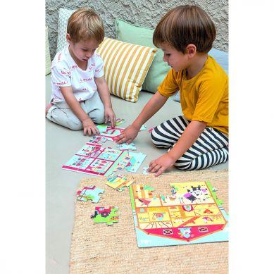 Apli Kids - Puzzle w Kartonowym Domku W Straży Pożarnej 3+