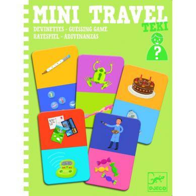 Djeco - Mini Gra Podróżna Zgadywanki Teki 4+