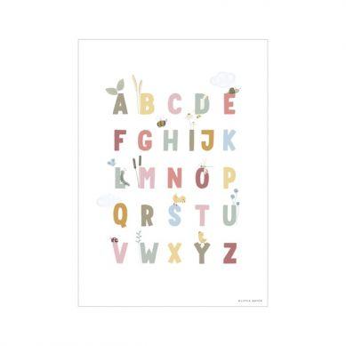 Little Dutch - Plakat A3 Alfabet Gąski Róż