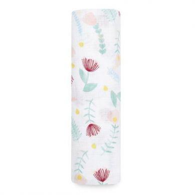 aden + anais -  Otulacz Muślinowy 112 x 112cm Floral Fauna