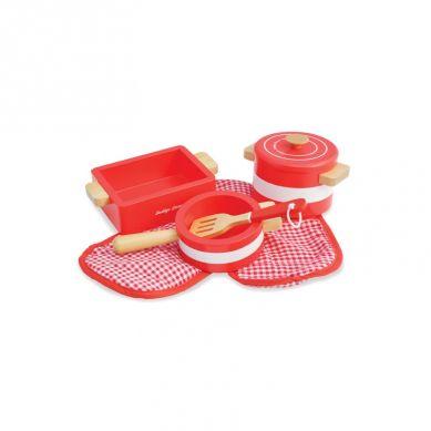 Indigo Jamm - Drewniane Naczynia Kuchenne Czerwone 3+