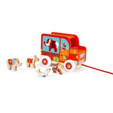 Scratch - Samochód Sorter do Ciągnięcia Cyrk