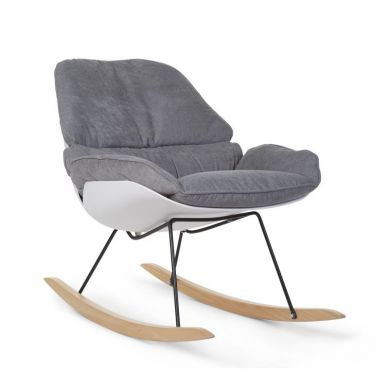 Childhome -   Fotel Bujany Lounge Chair White + Grey