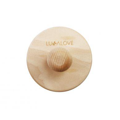 Lullalove - Ostra, okrągła szczotka do szczotkowania ciała - kokos