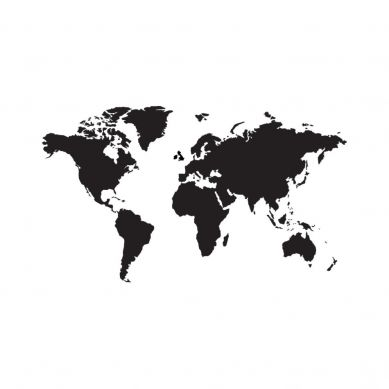 Dekornik - Naklejki Ścienne Mapa 6 Czarna Tablicowa L