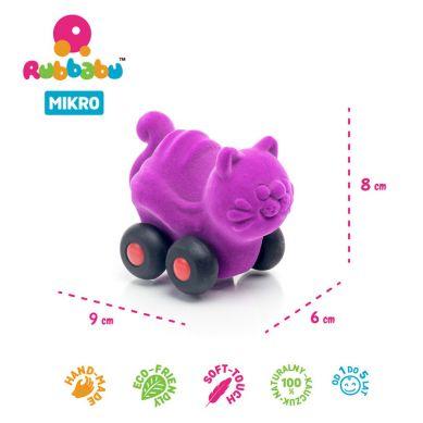 Rubbabu - Kot Pojazd Sensoryczny Fioletowy Mikro