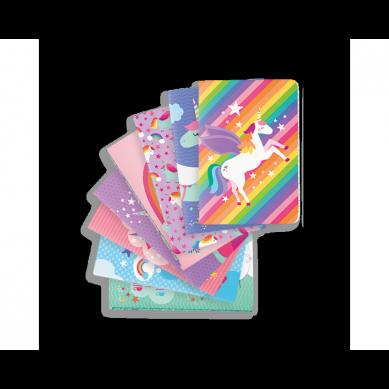 Ooly - Kieszonkowe Mini Notesy - Jednorożce 8szt. 4+