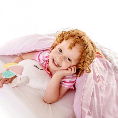 Bizzi Growin - RAINBOW & UNICORN Quilt Hipoalergiczna Kołderka Sensoryczna