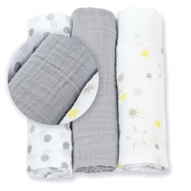 Lulujo - Mini Pieluszki Calming Grey