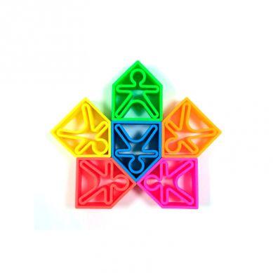 Dena - Zabawka Kreatywna  6 x Kid + 6 x House + 6 x Tree