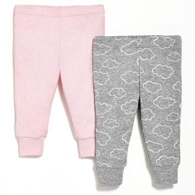 Skip Hop - Spodnie 2szt. Pink 3 miesiące