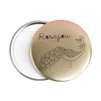 Rosajou - Lusterko kieszonkowe dla dzieci z Pawiem Złote