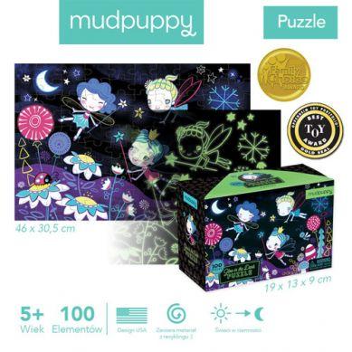 Mudpuppy - Puzzle Świecące w Ciemności Wróżki
