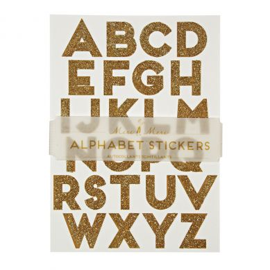 Meri Meri - Zestaw Naklejek All Wrapped Up Alphabet Gold