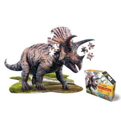 Madd Capp - Puzzle Konturowe I AM Triceratops 100 elem. 5+