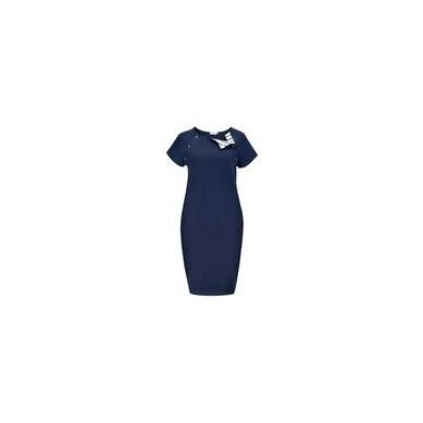 Granatovo - Sukienka Basic do Karmienia Granatova Marynarskie Paski Short S/M/L