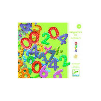 Djeco -  Kolorowe Cyferki Magnetyczne 38szt.