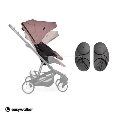 Easywalker - Charley adapter wysokości do wózka czarny