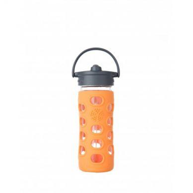 Lifefactory - Butelka Szklana ze Słomką 350ml Orange