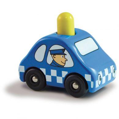 Vilac -  Drewniany Samochód Policyjny z Piszczałką