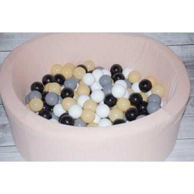 Misioo - Suchy Basen z 200 Piłeczkami 40 cm Pudrowy Róż + 50 Dodatkowych Piłek