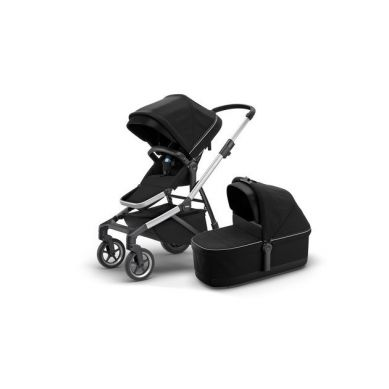 THULE - Sleek Wszechstronny Wózek Zestaw Siedzisko Spacerowe + Gondola Midnight Black
