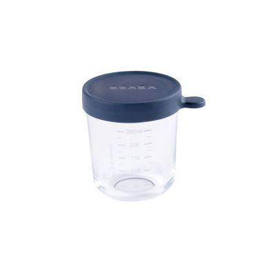Beaba - Pojemnik Słoiczek Szklany z Hermetycznym Zamknięciem 250 ml Dark Blue