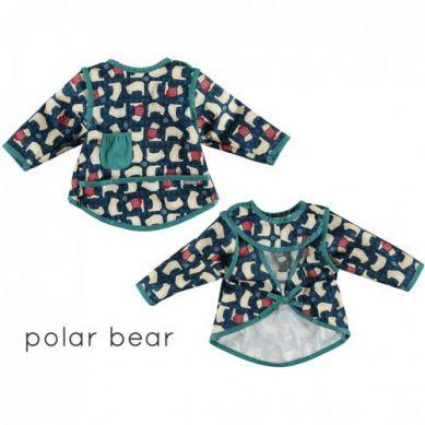 Close - Śliniak z Rękawkami Zimowy Niedźwiadek Polar Bear Limited Edition 18-36 miesięcy