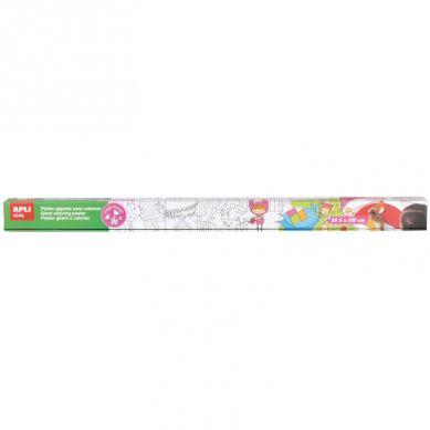 Apli Kids - Gigantyczny Plakat do Kolorowania Magiczny Las