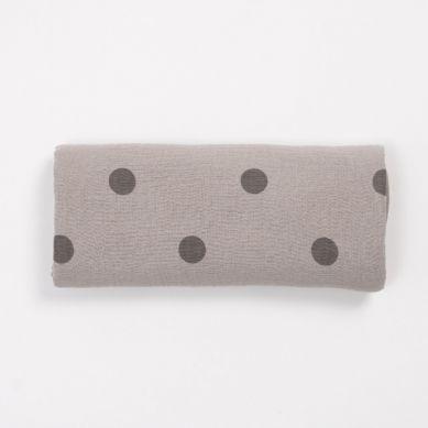 Bim Bla - Otulacz Big Dots Beżowy 100 x 100 cm