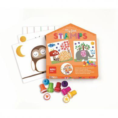 Apli Kids - Mój Pierwszy Zestaw Artystyczny Stempelki 3+